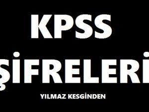 2018 KPSS ŞİFRELERİ KODLAMALAR ON NUMARA