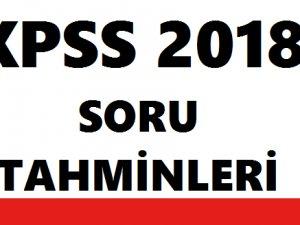 2018 KPSS Soru tahminleri