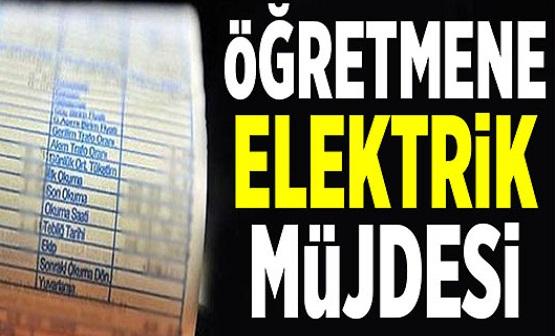 Öğretmenler için elektrik indirimi müjdesi