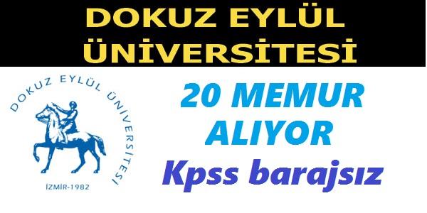Dokuz Eylül Üniversitesi 20 Sözleşmeli Memur Alımı