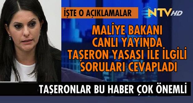 Bakan canlı yayında Taşerona kadro detaylarını açıkladı