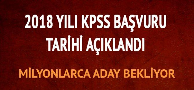 ÖSYM 2018 Sınav Takvimi 2018 kpss tarihi