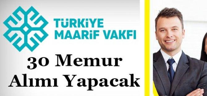 Türkiye Maarif Vakfı Memur Alımı 2018