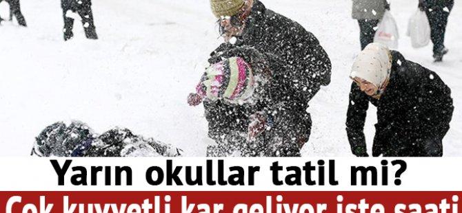 19 Ocak Cuma – 3 İlde Okullara Kar Tatili
