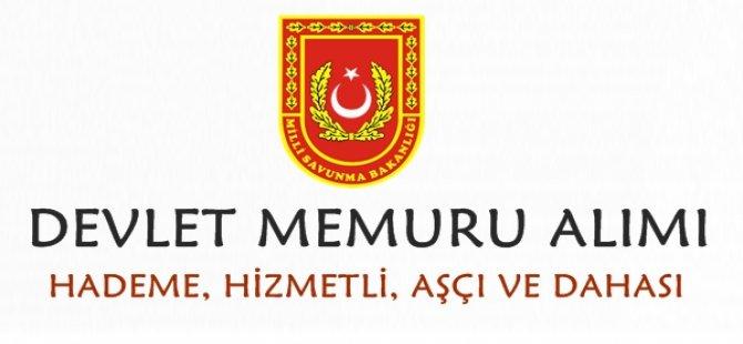 Milli Savunma Bakanlığı Devlet Memuru Alımı 2018