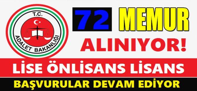 72 MEMUR ALINIYOR