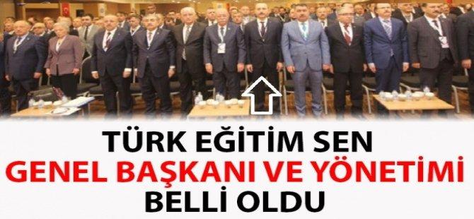 Türk Eğitim-Sen'in yeni genel başkanı ve yönetim kurulu