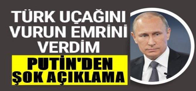 Putin'den yıllar sonra itiraf! Türk uçağını vurun emrini verdim