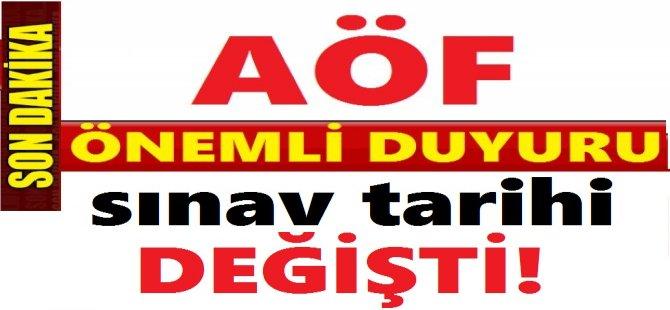 AÖF FİNAL SINAV TARİHLERİ DEĞİŞTİ