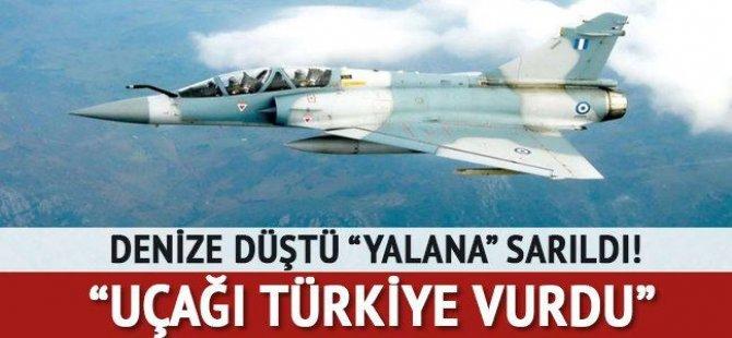 """Denize düştü 'yalan'a sarıldı! """"Uçağı Türkiye düşürdü"""""""