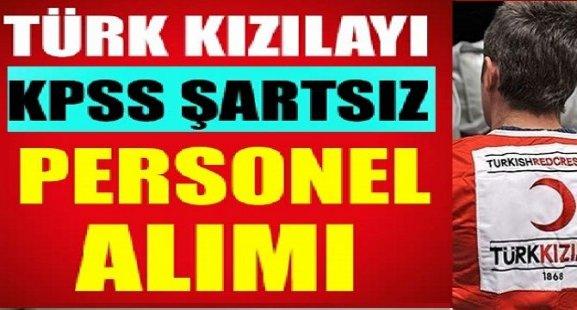 Türk Kızılayı Personel Alımı 2018