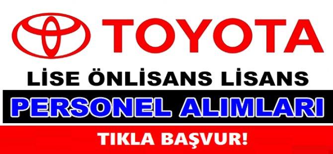 Toyota Otomotiv Sanayi Türkiye A.Ş. personel alımı 2018