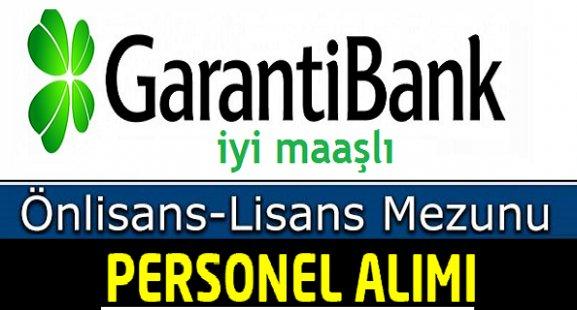 Garanti Bankası Önlisans ve Lisans Mezunu Personel Alımı 2018