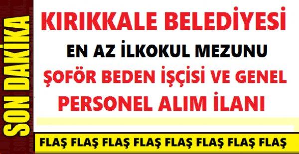 Kırıkkale Bahşılı Belediye Başkanlığı 22 İşçi Alımı