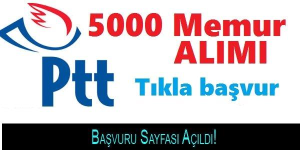 PTT 2018/1 5000 Personel Alımı Başvuru Sayfası Açıldı