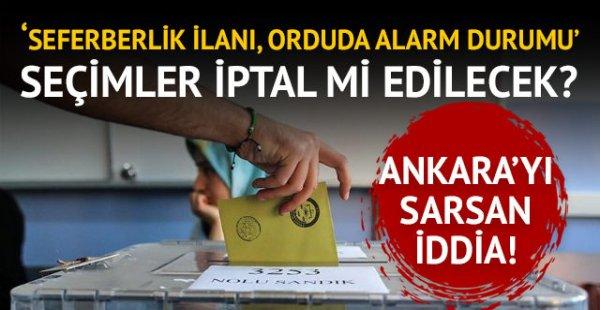 Ankara'yı Sarsacak İddia.. Seçim İptal mi Edilecek ?
