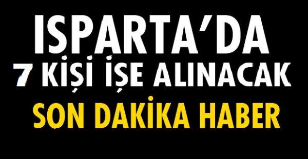 Isparta Uluborlu Belediyesi 7 İşçi Alımı