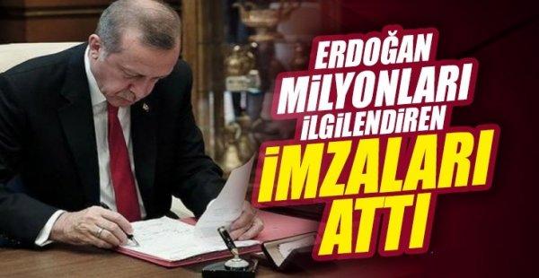 Kamuda yeni dönem başlıyor! Erdoğan imzaladı
