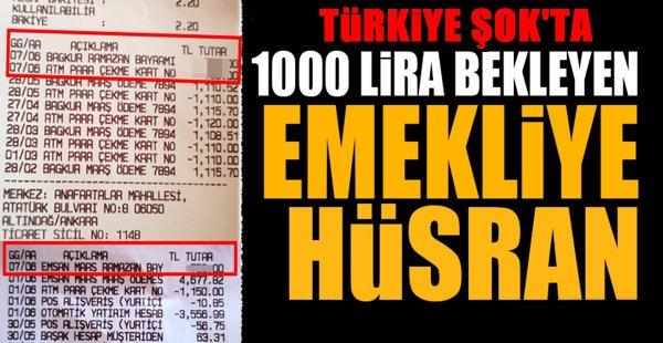 1000 lira bekleyen emekliye hüsran Bakın Kaç Para Yattı !