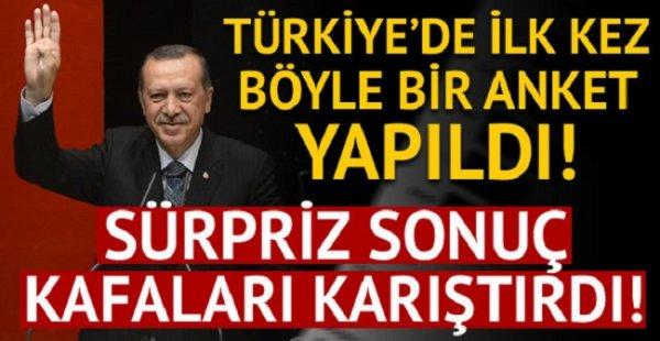 Türkiye'de ilk defa böyle bir anket yapıldı...Sürpriz sonuç...