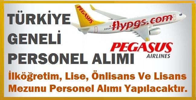 PEGASUS Hava Yolları 18 farklı branş ile 18 bölümde personel alımı