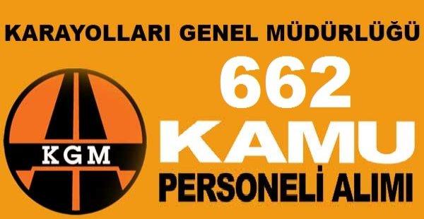 Karayolları 662 Personel alım ilanı duyuruldu