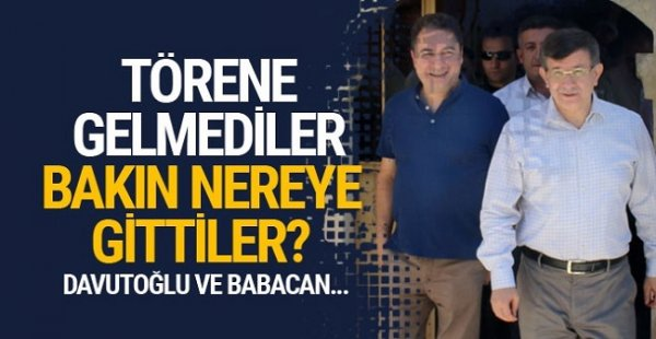 Erdoğan yemin ederken Davutoğlu ve Babacan bakın neredeymiş?