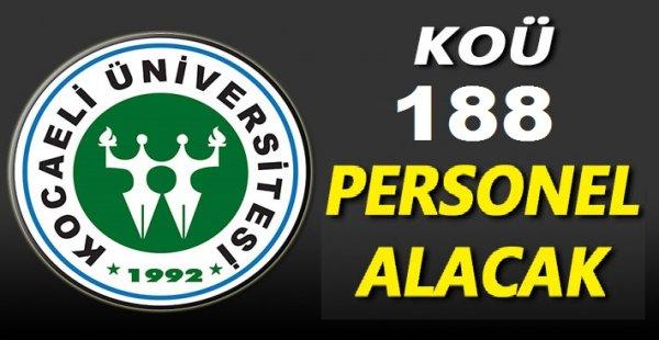 Kocaeli Üniversitesi 188 Personel alacak