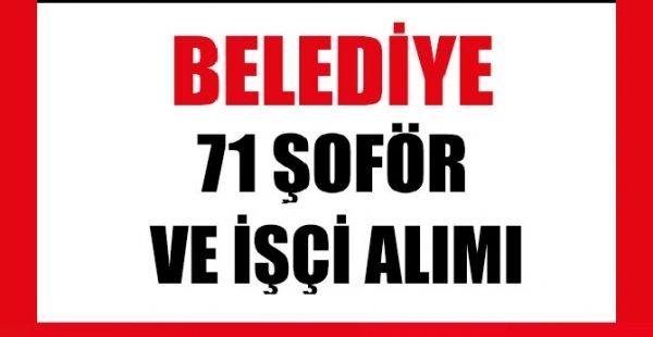 Aydın Didim Belediyesi KPSS şartsız 71 şoför ve işçi alımı