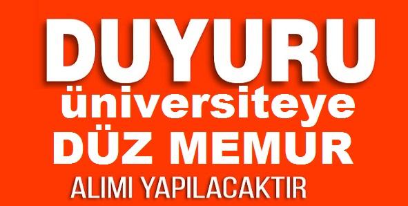 Bitlis Eren Üniversitesi Düz Memur Alımı