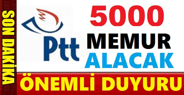 PTT 5 bin Personel Alımı Yazılı Sınav Giriş Belgeleri