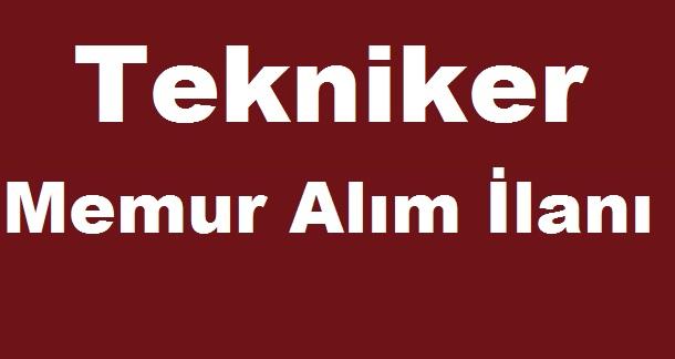 Alay Belediyesi Tekniker Memur Alım İlanı