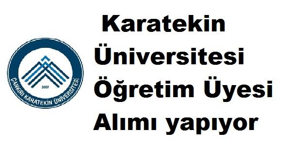Karatekin Üniversitesi Öğretim Üyesi Alımı yapıyor