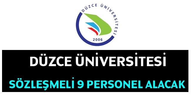 Düzce Üniversitesi 9 personel ilanı