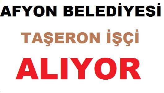 Afyon BELTAŞ 4 Taşeron İşçi Alım ilanı yayınladı