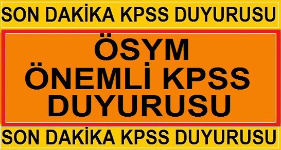 KPSS 2019 Sınav Giriş Belgelerini Yayınladı