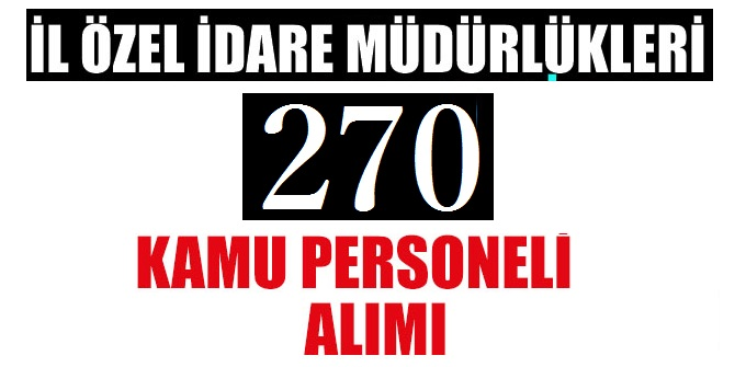 Bartın, Burdur, Erzincan, Isparta, Karaman, Kırşehir ve Tunceli İl Özel İdareleri 290 Kamu Personeli Alım
