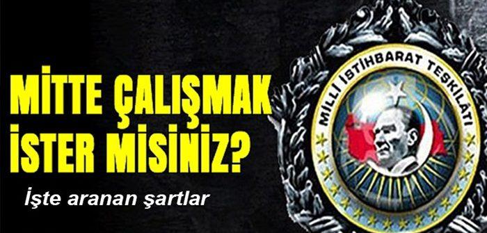 Milli İstihbarat Teşkilatı (MİT) 3 farklı kadro için ilan yayınladı