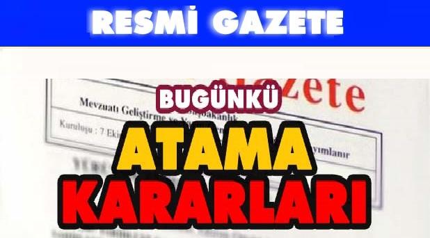 24 Kasım 2018 Resmi Gazete Atama Kararları