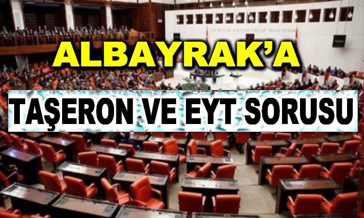 Bakan Albayrak'a EYT ve Taşeron Sorusu!