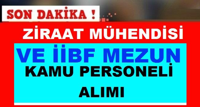 Antalya Senirkent ve Samsun Vezirköprü Çiftçi Ziraat Mühendisi İİBF Alım ilanı
