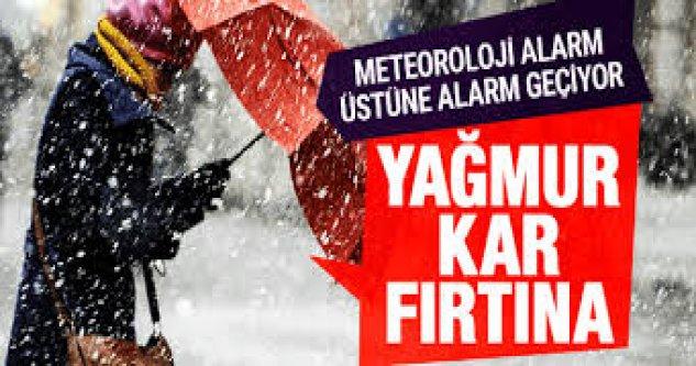 Kuvvetli Kar, Yağış, Fırtına Uyarısı: İşte il il Hava Durumu