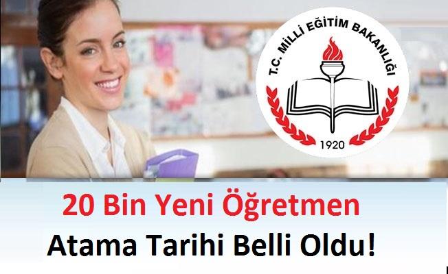 20 Bin Yeni Öğretmen Atama Tarihi Belli Oldu!