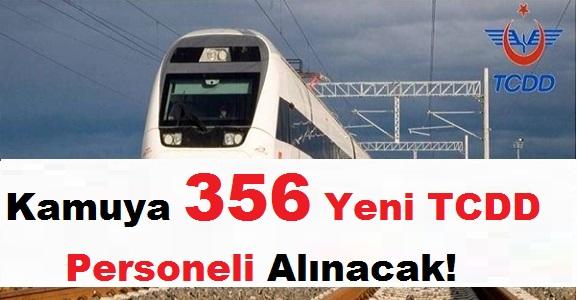 TCDD Devlet Demiryolları 356 Kamu Personeli Alımı