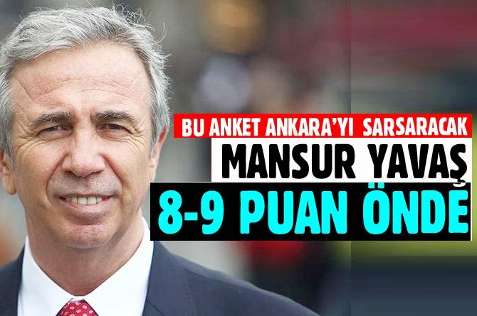 Ankara'da Mansur Yavaş'ın önde olduğu ileri sürüldü.