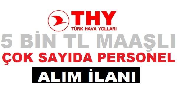 Türk Hava Yolları Teknik en az lise mezunu 150 personel alım ilanı