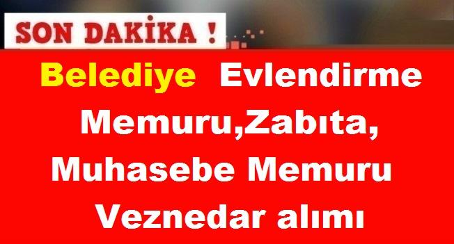 Belediye KPSS 60 Puanla Evlendirme Memuru ,Zabıta,Muhasebe Memuru,Veznedar alımı
