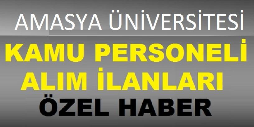 Amasya Üniversitesi Üç Eski Hükümlü İşçi Alım İlanı