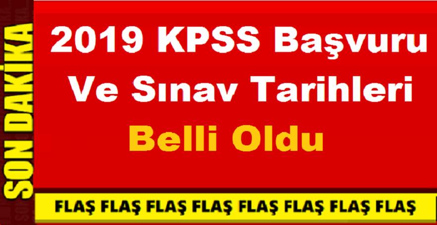2019 KPSS Hakkında Yeni Gelişme İşte Başvuru ve Sınav Tarihi