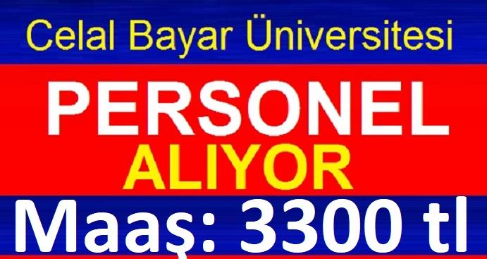 Manisa Celal Bayar Üniversitesi 46 İşçi iş ilanı Değiştirildi!